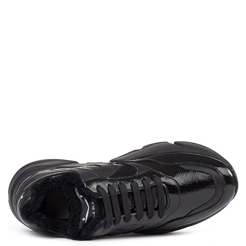 Кроссовки на меху Voile Blanche Monster из лакированной кожи, фото