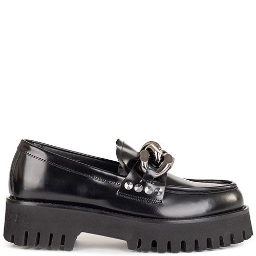 Черные туфли Casadei из гладкой кожи, фото