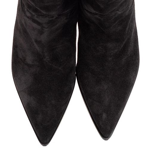 Замшевые ботфорты Casadei черного цвета, фото