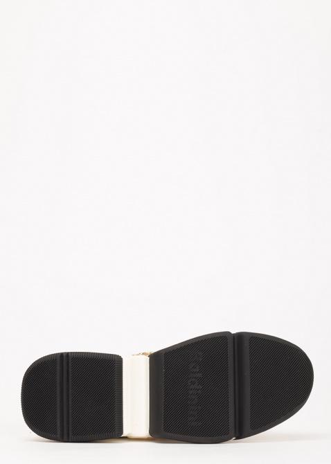 Бежевые кроссовки Baldinini из кожи и замши, фото
