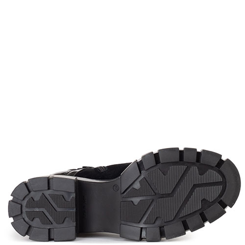 Черные ботинки Loriblu из замши и текстиля, фото