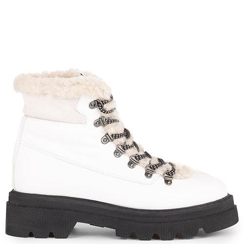 Белые ботинки Voile Blanche из гладкой кожи, фото