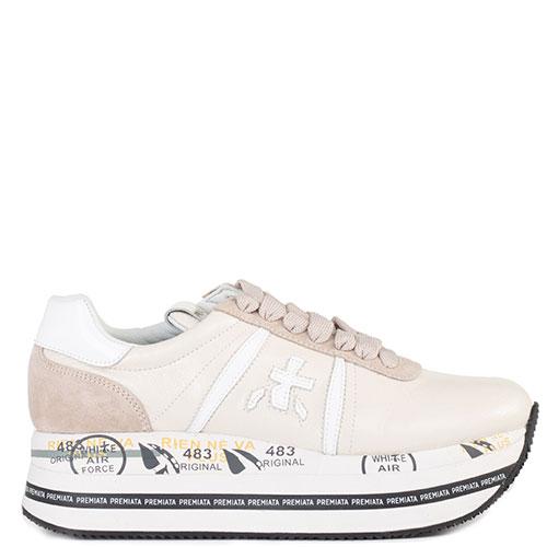 Кроссовки Premiata светло-бежевого цвета, фото