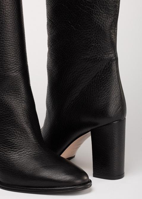Черные сапоги Le Silla на среднем каблуке, фото
