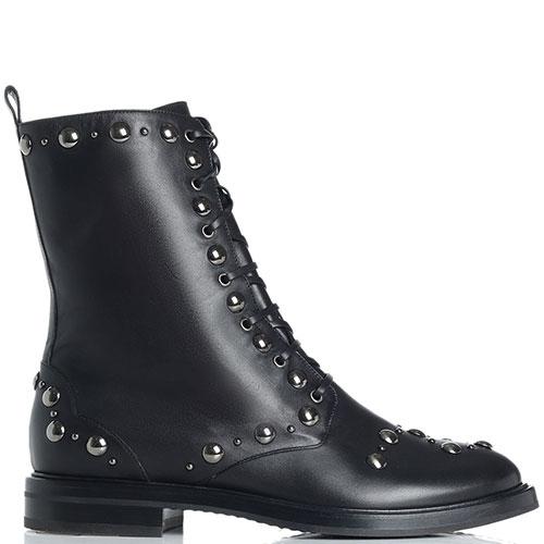 Женские ботинки Casadei с декором-заклепками, фото