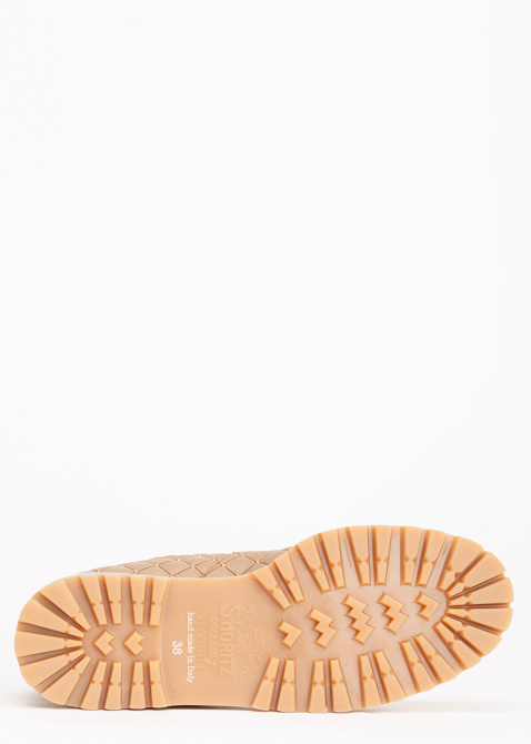 Ботинки стеганые Le Silla St. Moritz Chiffon бежевого цвета, фото