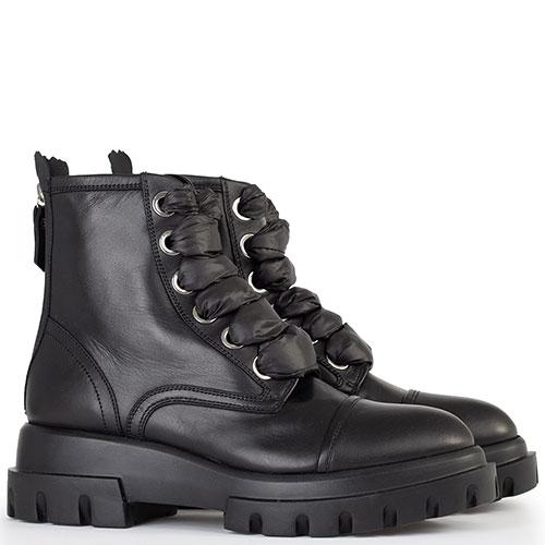 Черные ботинки AGL на шнуровке, фото