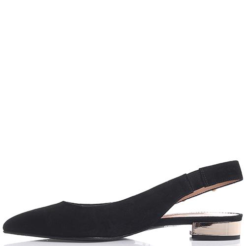 Черные слингбеки Marino Fabiani с острым носком, фото