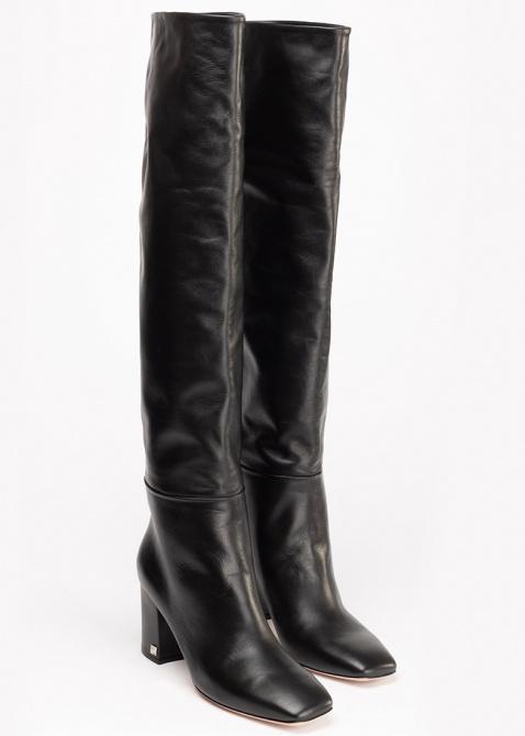 Черные сапоги Ballin с квадратным носком, фото