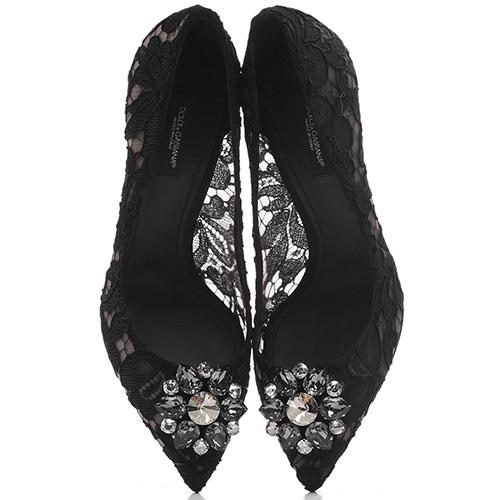 Кружевные туфли Dolce&Gabbana на шпильке, фото