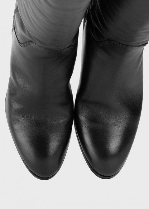Черные сапоги Santoni на меху, фото