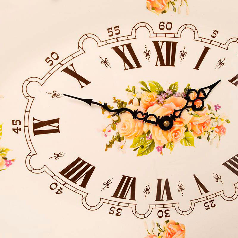 Настенные часы Capanni с рисунками цветов