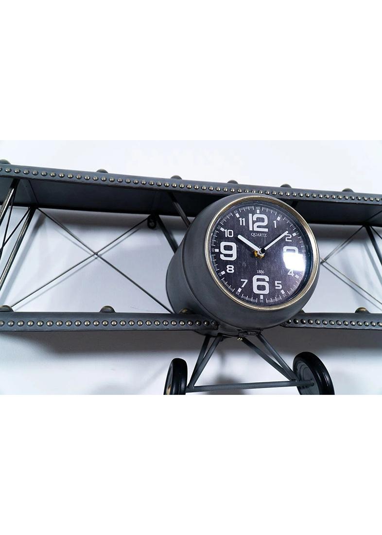 Дизайнерские часы Loft Clocks & Co Steve с полкой в виде биплана