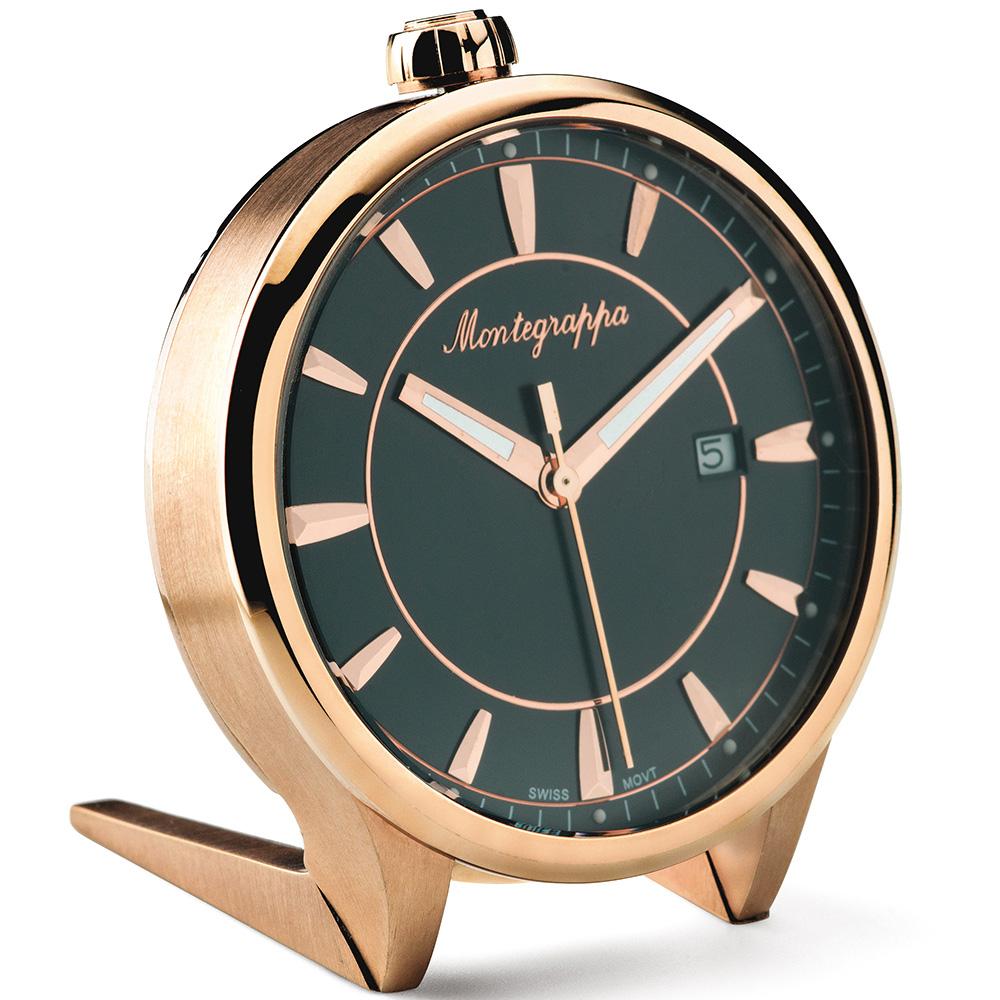Настольные часы Montegrappa Fortune Table Clock с черным циферблатом