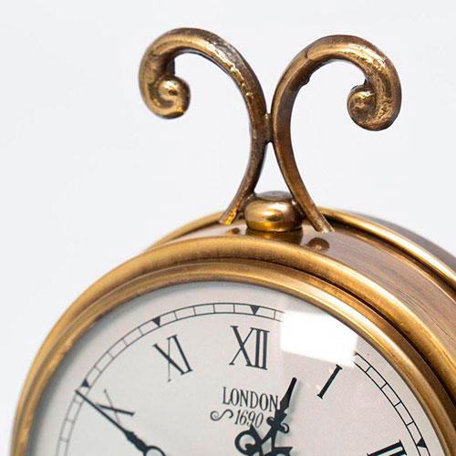 Настольные часы Capanni с подставкой из антикварного дерева, фото