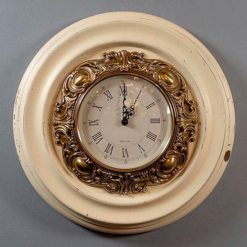 Настенные часы Capanni с декором золотистого цвета , фото