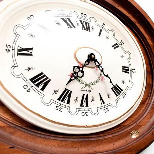 Настенные часы Capanni декорированные рисунком цветов, фото