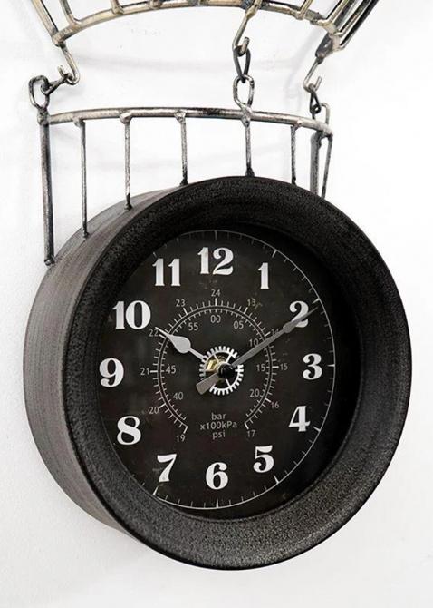 Настенные часы Loft Clocks & Co Jacques в виде воздушного шара, фото
