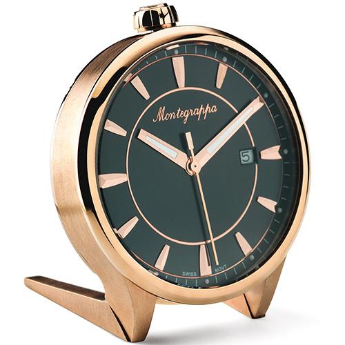 Настольные часы Montegrappa Fortune Table Clock с черным циферблатом, фото
