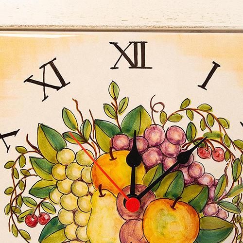 Настенные часы L'Antica Deruta в деревянной раме, фото
