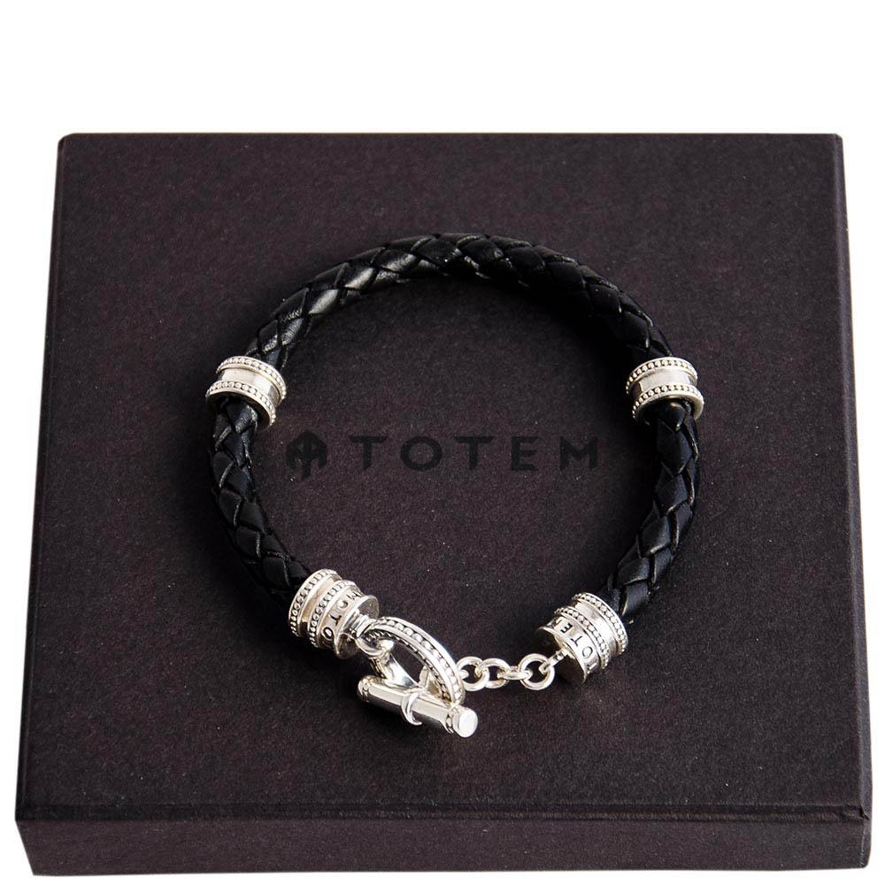 Плетеный кожаный браслет TOTEM Adventure Jewelry Toggle Round