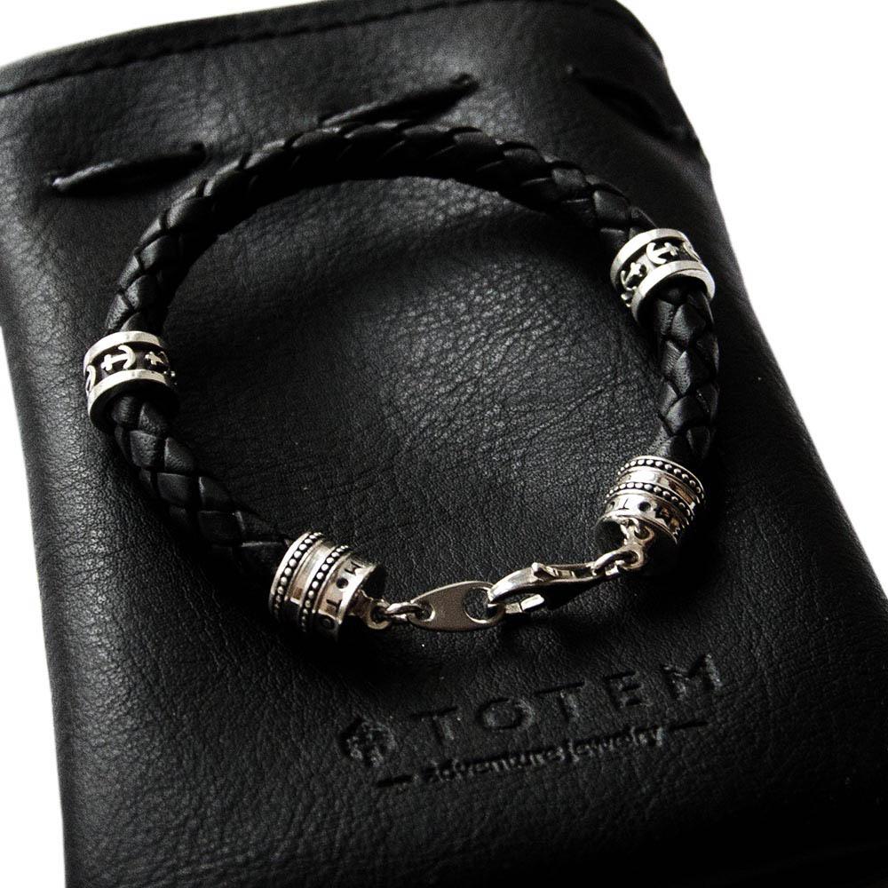 Кожаный браслет TOTEM Adventure Jewelry Symbols с символами