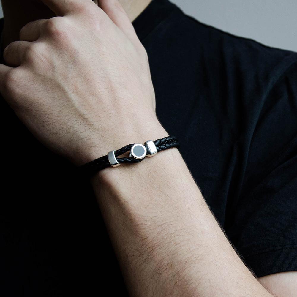 Кожаный браслет Totem Adventure Jewelry Spot Black