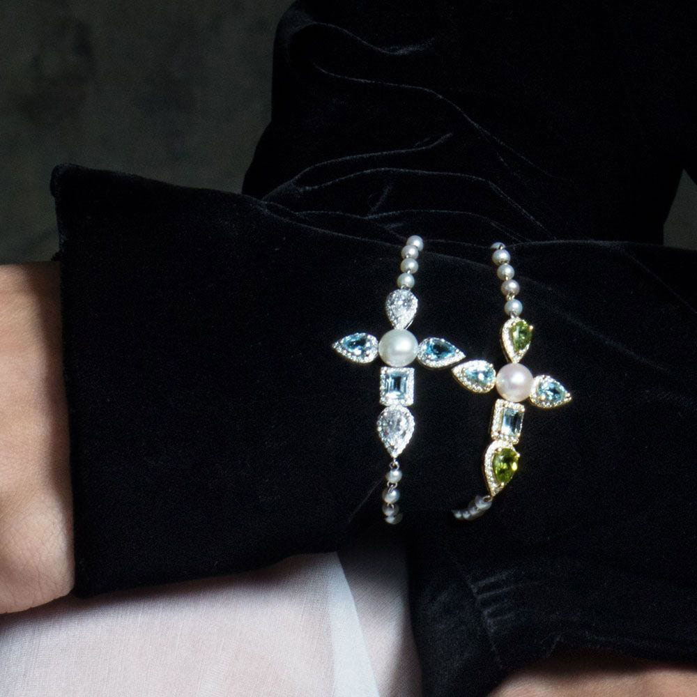 Жемчужный браслет APM Monaco Glamour с камнями циркония