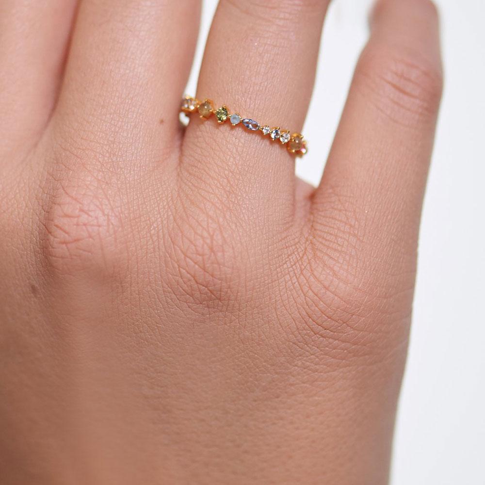 Кольцо P D Paola Atelier Papillon с камнями и позолотой