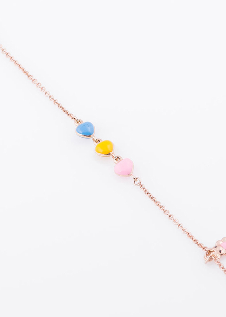 Золотой браслет с цветной эмалью