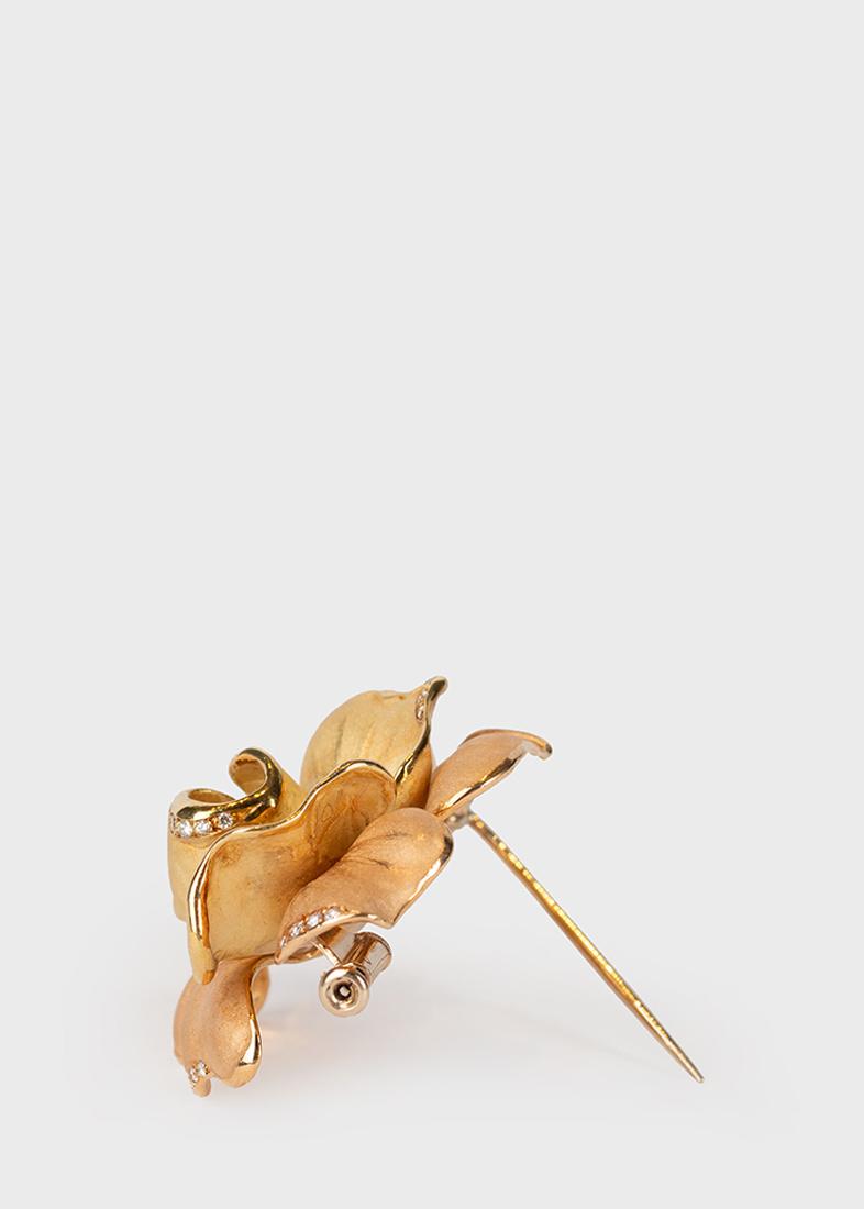 Брошь Annamaria Cammilli Rose Aperte в форме цветка