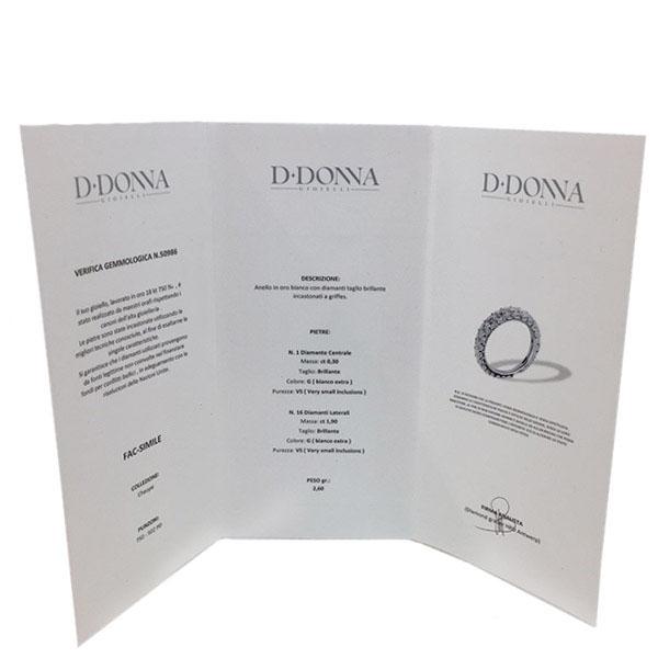 Кольцо D-Donna Ruggero Broggian Margherita из белого золота с изумрудом и бриллиантами