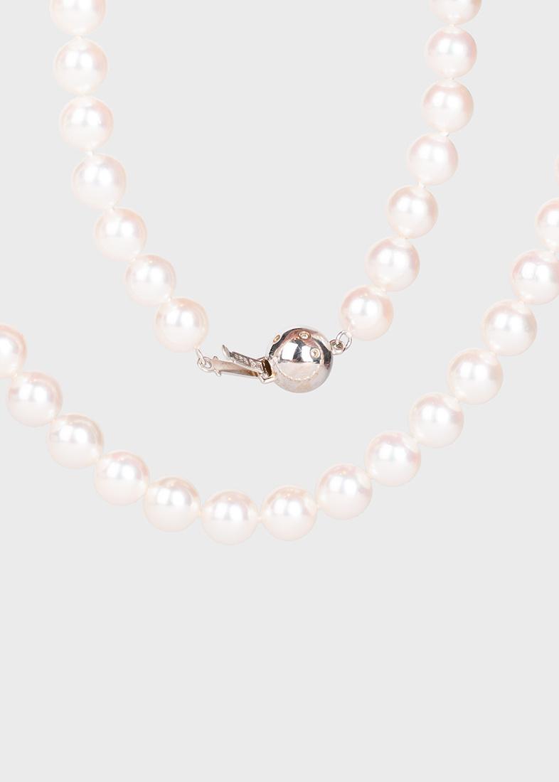 Жемчужное ожерелье Yamagiwa с бриллиантами