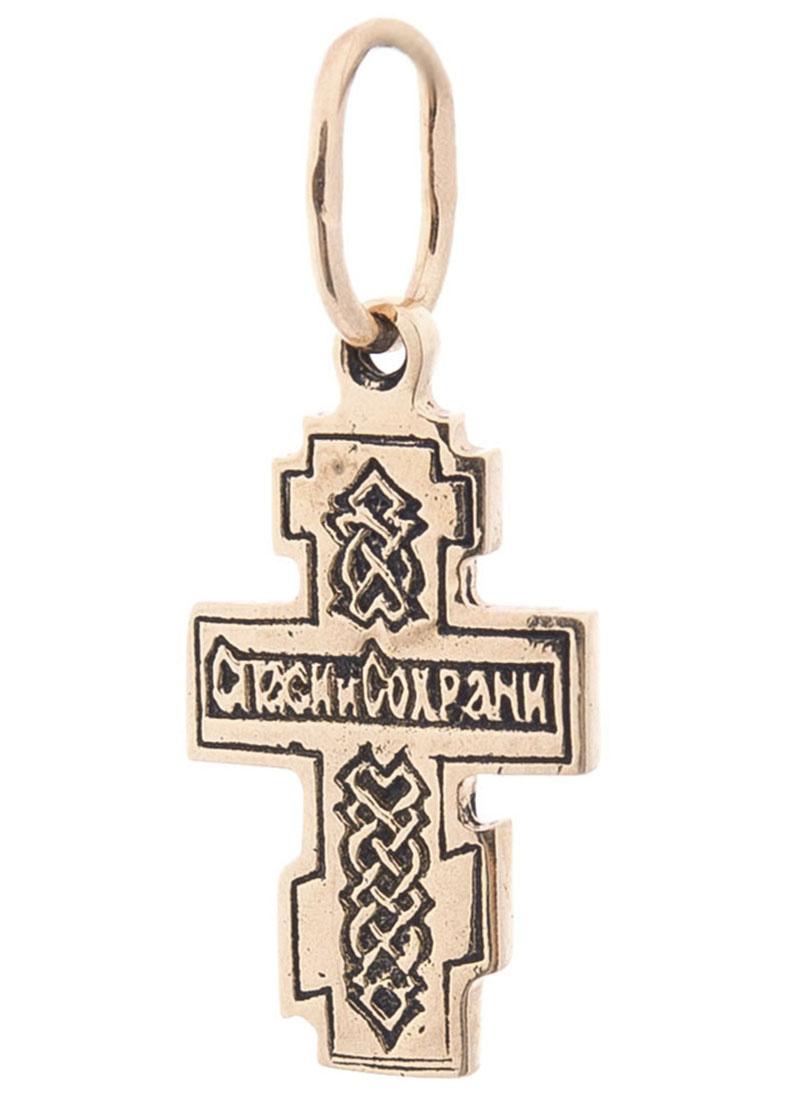 Православный крестик с чернением
