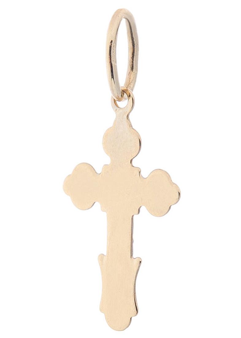 Золотой крестик с алмазной гранью