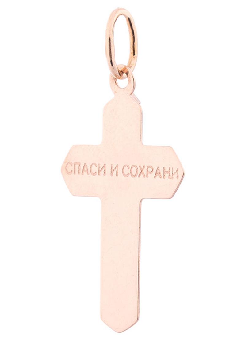 Золотой подвес в форме крестика