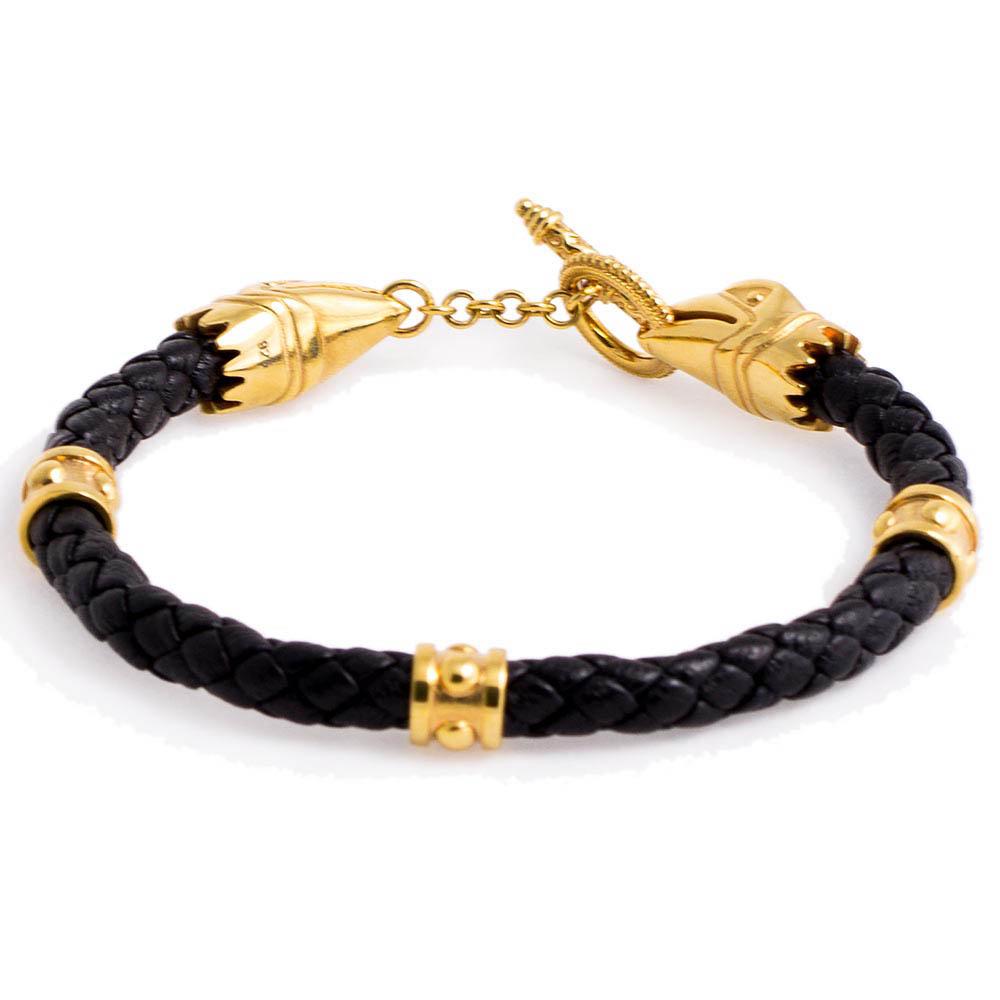 Браслет TOTEM Adventure Jewelry Crixus Gold с позолочеными застежками