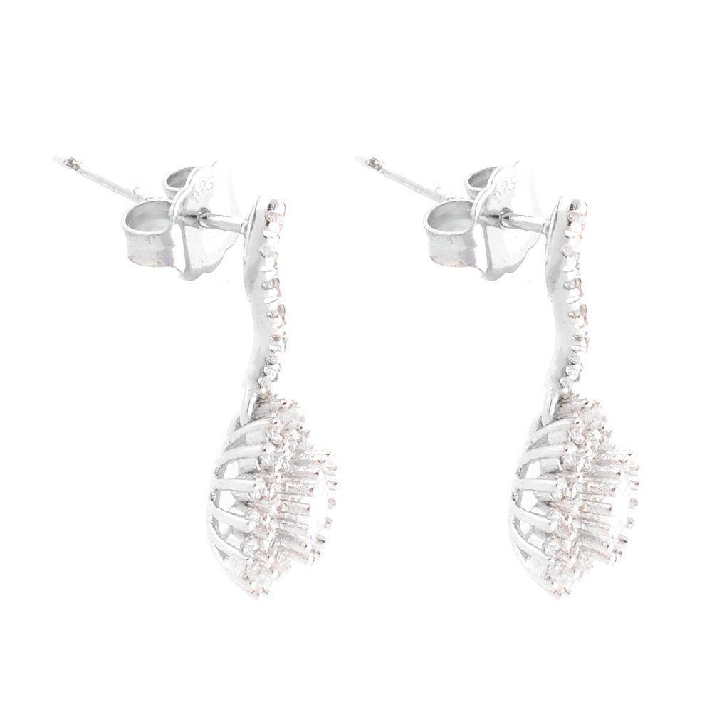 Серебряные серьги Parure Milano Silver с цирконами
