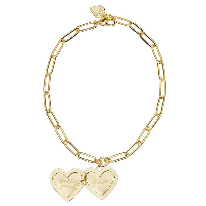 Браслет Wanderlust + Co Heart Space Heart с подвеской-сердцем