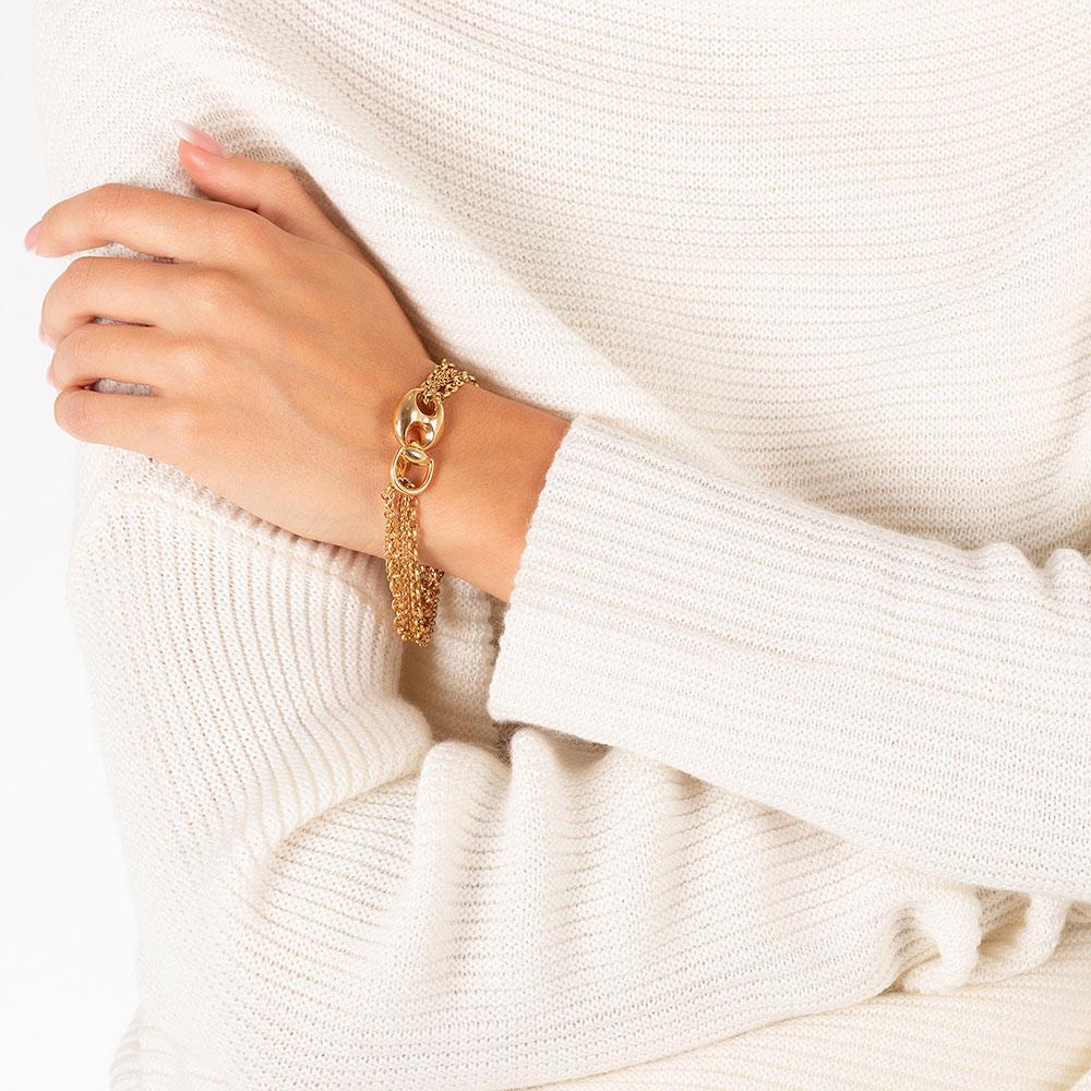 Золотой браслет Gucci Marina Chain с несколькими цепными рядами