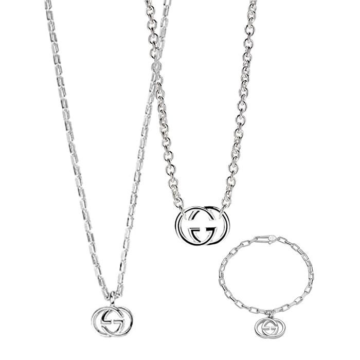 Браслет-цепочка Gucci G's с подвеской из стерлингового серебра