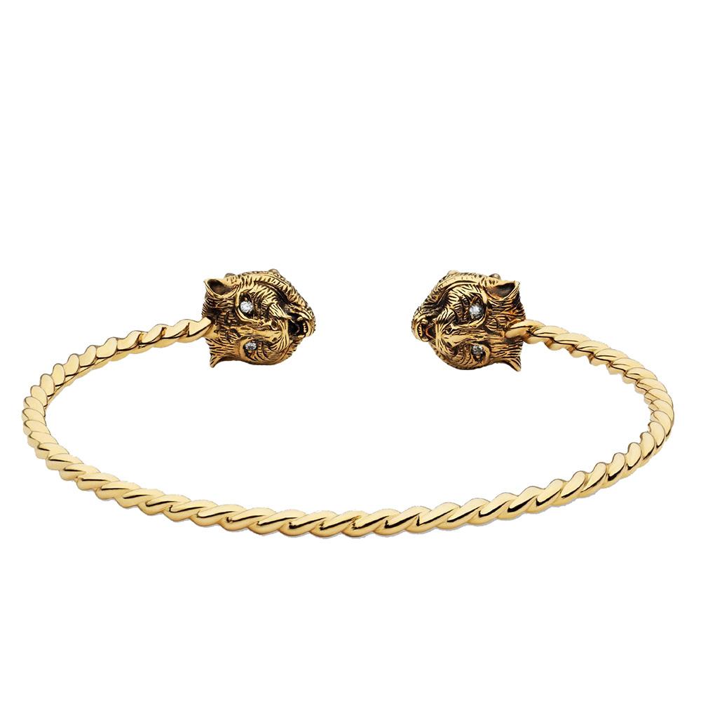 Витой браслет-кафф Gucci Le Marche des Merveilles с бериллом и турмалином