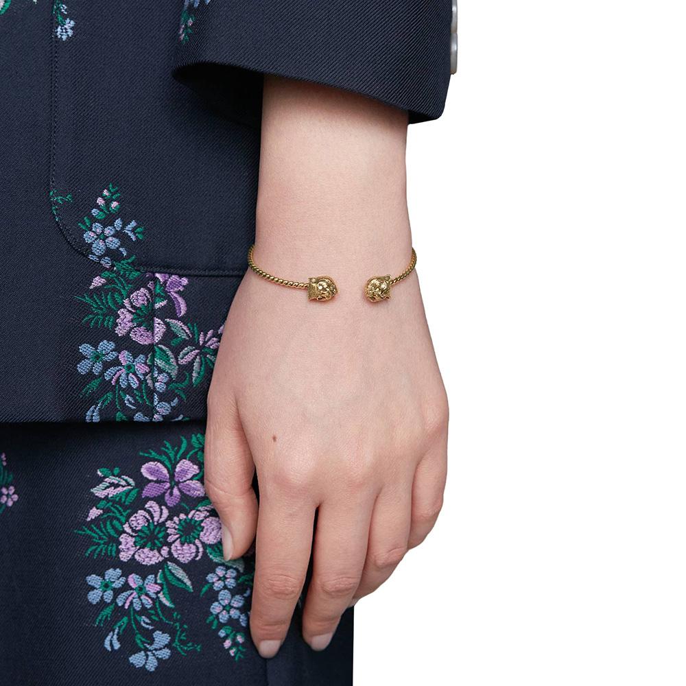 Витой браслет-кафф Gucci Le Marche des Merveilles с бриллиантами