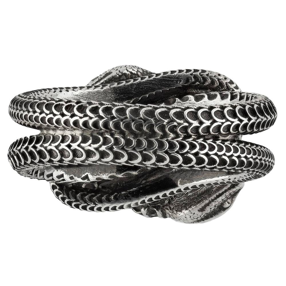 Серебряное кольцо Gucci Garden с переплетенными змеями
