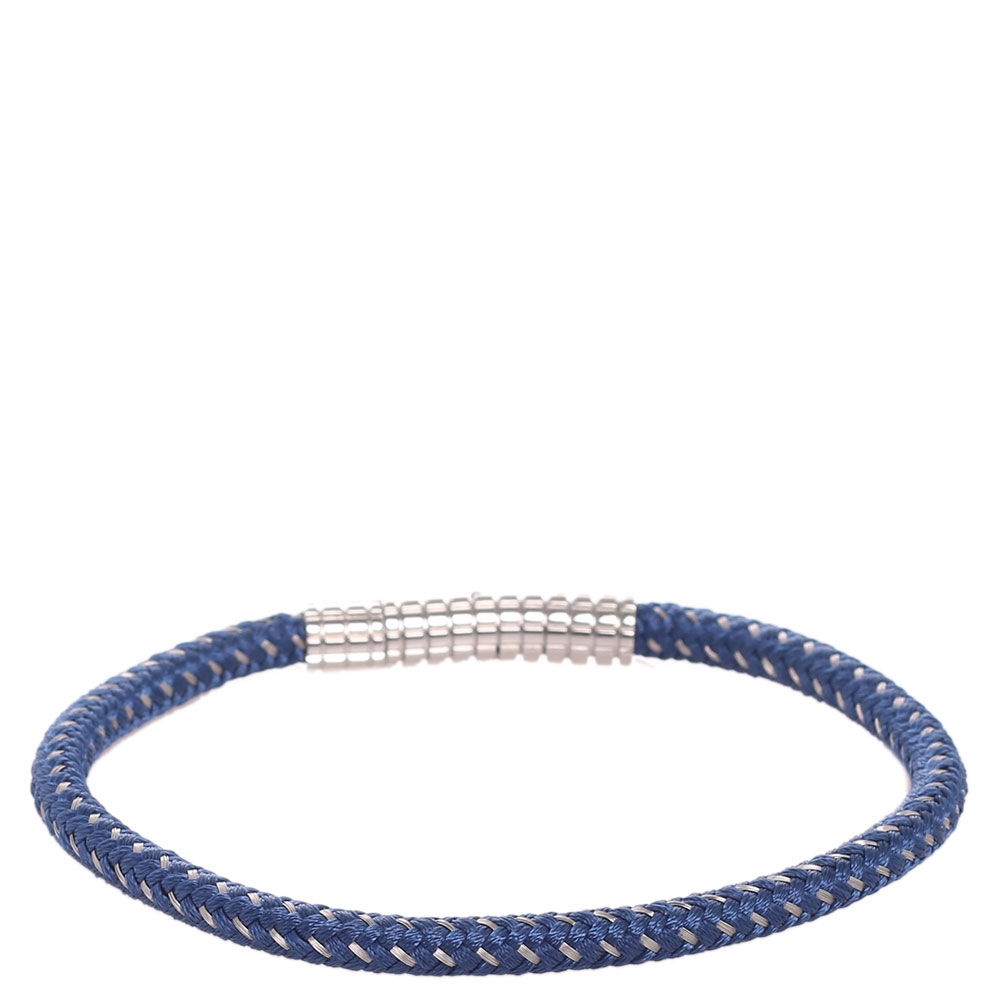 Плетеный браслет Zeades со стальным декором