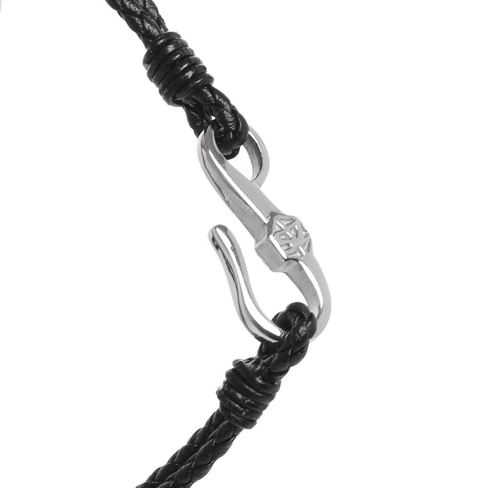 Двойной браслет Zeades из плетеной кожи