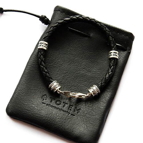 Кожаный браслет TOTEM Adventure Jewelry Symbols с мальтийским крестом, фото