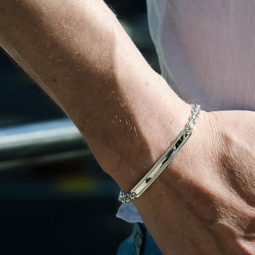 Тонкий браслет Totem Adventure Jewelry Chain Plate, фото