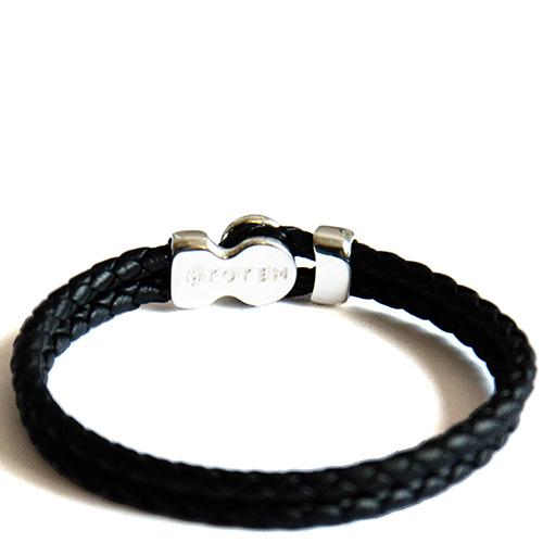 Кожаный браслет Totem Adventure Jewelry Spot Black, фото