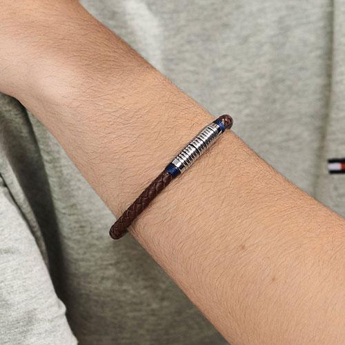 Мужской браслет Tommy Hilfiger коричневого цвета, фото